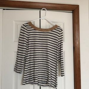 Banana Republic 3/4 Stripped Top